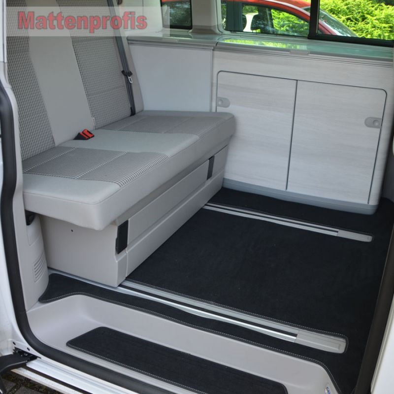 premium velour fu matten komplett f r vw t6 california. Black Bedroom Furniture Sets. Home Design Ideas