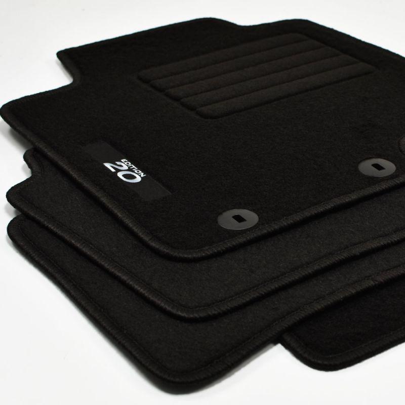 sw Velours Logo Fußmatten für Hyundai i10 Modell 2014 ab Bj.2013