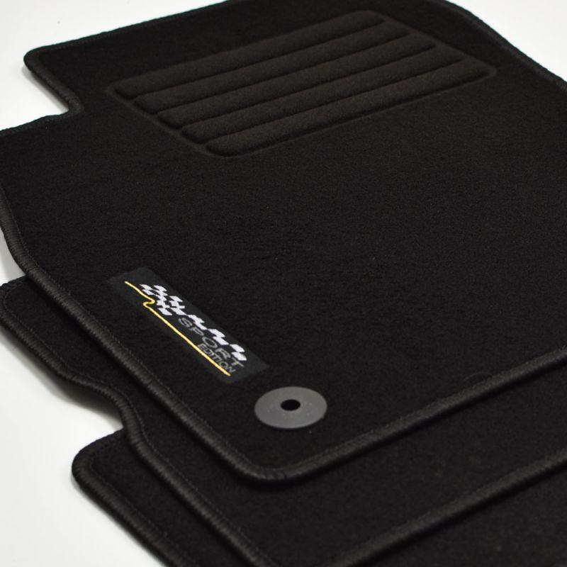 Passform-Velours-Fußmatten für Opel Corsa E mit Befestigungen