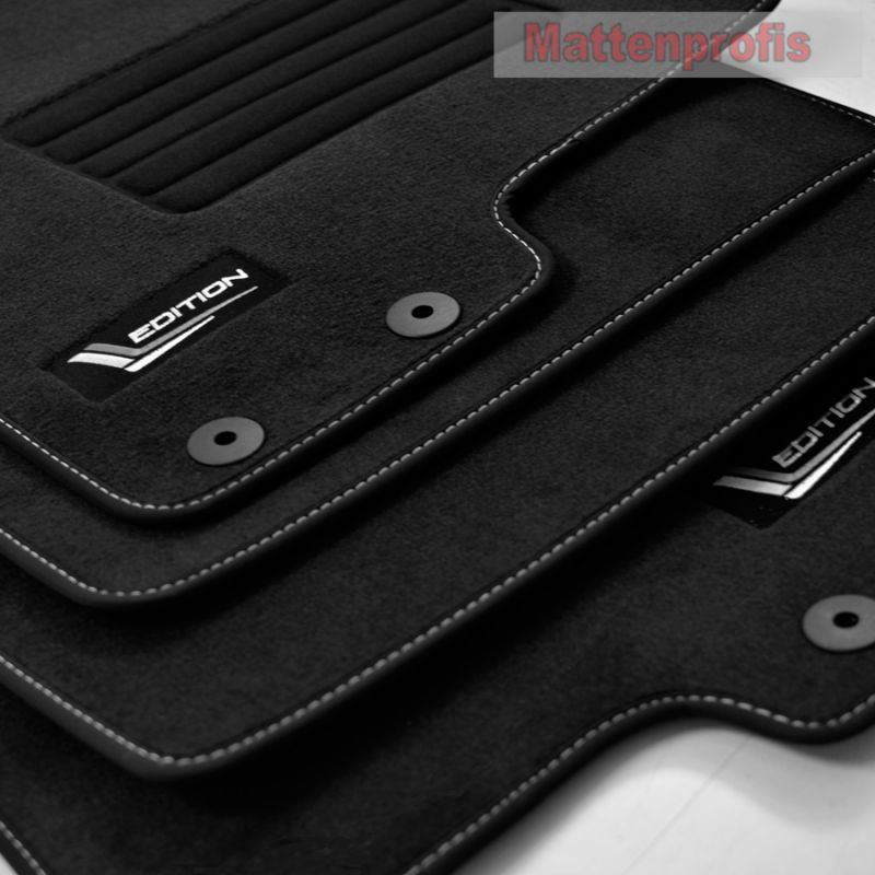 Velours schwarz Fußmatten passend für KIA SPORTAGE SL ab´2010