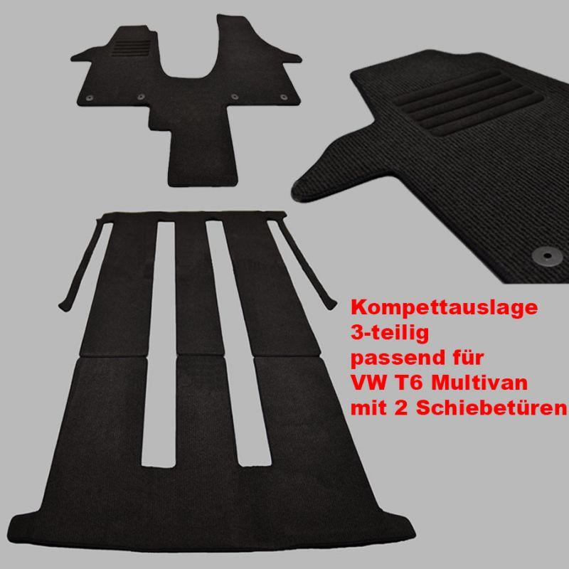 Velours Fußmatten Autoteppiche für VW T5 mit 2 Einzel Sitze ab Bj.2003