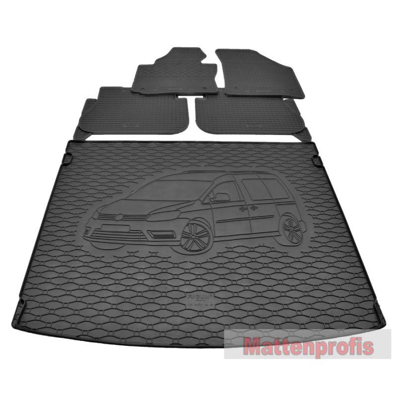 Gummimatte Kofferraumwanne GKK passend für VW Caddy III ab Bj.2004-2015