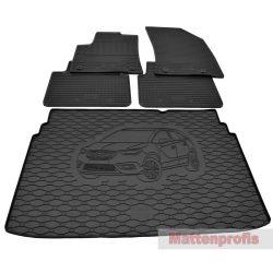 3D Gummi-Fußmatten für BMW 7er F01 4tlg 2007-2015 Gummimatten